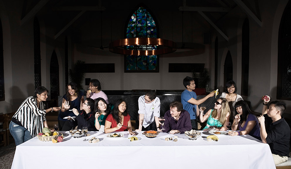 Food reviewer portrait of The Last Supper