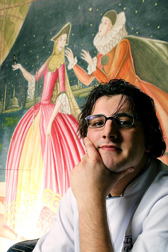 Chef portrait in art restaurant