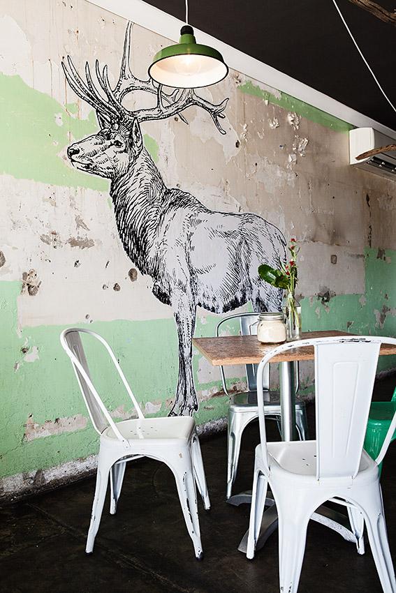 Rustic funky cafe interior decor, Gold Coast